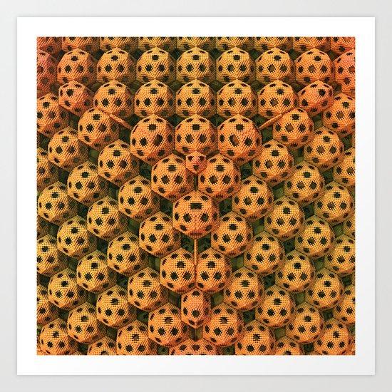 Little Speckled Balls Art Print