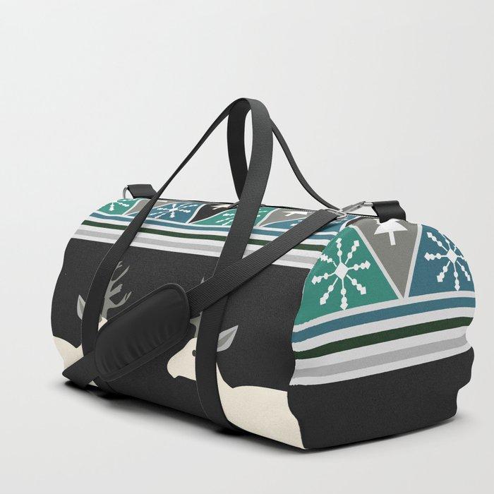 Christmas pattern with deer Duffle Bag