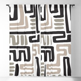 African Tribal Pattern No. 141 Blackout Curtain