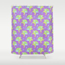 Pegasus in a Cosmic Sea of Gemstones Shower Curtain