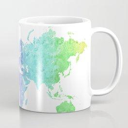 "Rainbow world map in watercolor style ""Jude"" Coffee Mug"