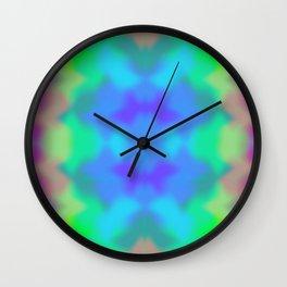 Rainbow Multicolored Watercolor Abstract Tie Dye Wall Clock