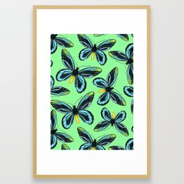 Queen Alexandra' s birdwing butterfly pattern Framed Art Print
