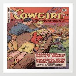 Cowgirl Romance Art Print
