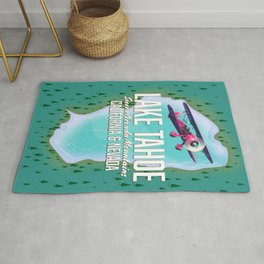 Lake Tahoe map Rug