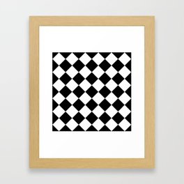 Diamond Black & White Framed Art Print