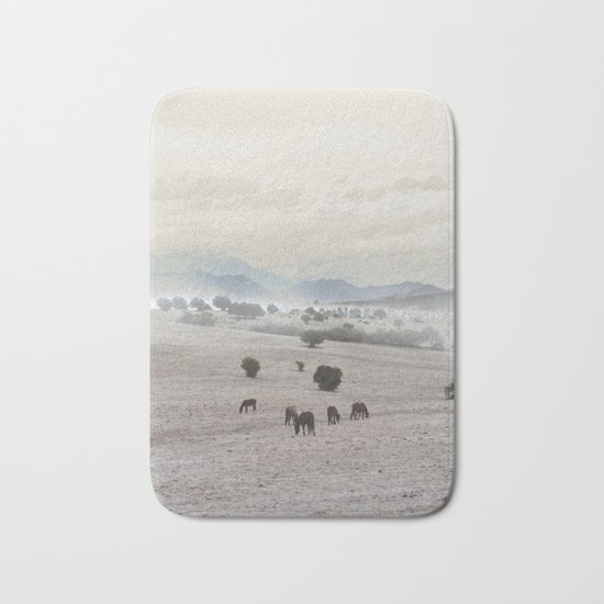 Landscape & Horses II Bath Mat