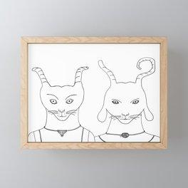 A nice pair of alien superheroes Framed Mini Art Print