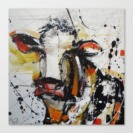 Handsome Cow Canvas Print