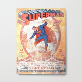 Superman Poster Metal Print