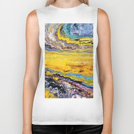African landscape, acrylic on canvas Biker Tank