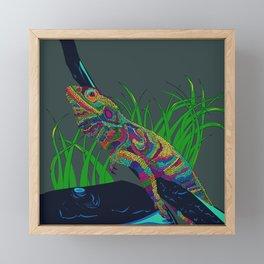 Colorful Lizard Framed Mini Art Print