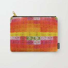 High Definition Retro Disco Ball Orange Pattern Carry-All Pouch