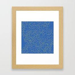 Crackle at the Poolside Framed Art Print