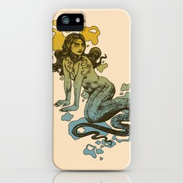 Lamia Yellow and Blue iPhone Case