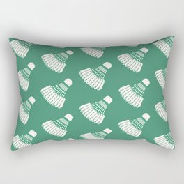 Shuttlecock Badminton Pattern (Green) Rectangular Pillow