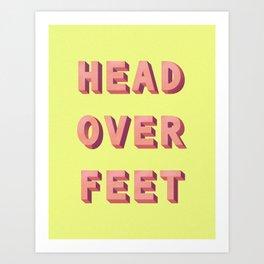 3D HEAD OVER FEET Art Print