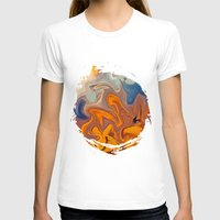 helen T-shirts featuring SKY ON FIRE by Catspaws