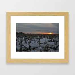 Winter Fire Framed Art Print