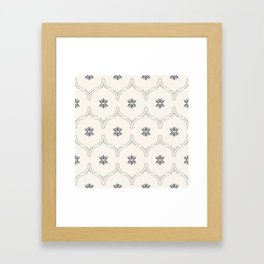 WILDFLOWER JASMIN GREY Framed Art Print