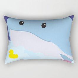 Bathing Whale Rectangular Pillow
