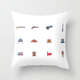 Happy National Confederacy Heroes Day Throw Pillow
