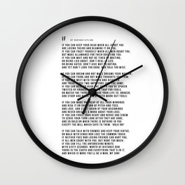 IF #minimalism Wall Clock