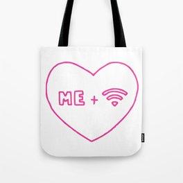 Me Plus Wifi. Tote Bag