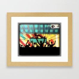 hear the music feel the beat  Framed Art Print