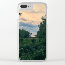 Lost playa Clear iPhone Case