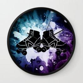 Roller Derby Galaxy Skates Wall Clock