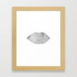 black lips Framed Art Print