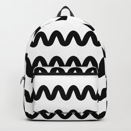Squiggle pattern Backpack