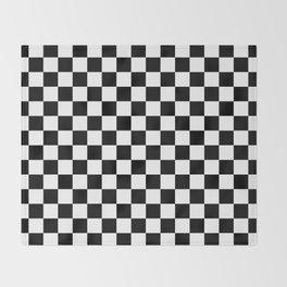 Checker (Black/White) Throw Blanket