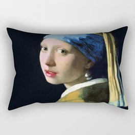 Vermeer - Girl with a Pearl Earring Rectangular Pillow