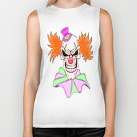 pennywise Biker Tanks featuring Demented Clown Skull by J&C Creations