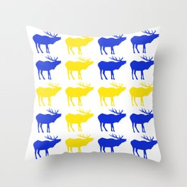 Graphic Swedish Elk Flag I Throw Pillow