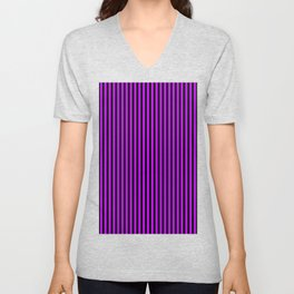 Striped black and purple 2 background Unisex V-Neck