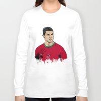 ronaldo Long Sleeve T-shirts featuring Cristiano Ronaldo by J Maldonado