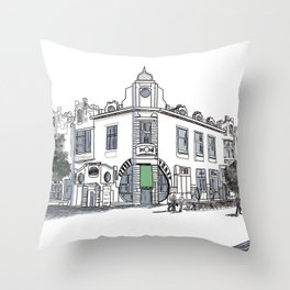 street of the old town / artwrk Throw Pillow
