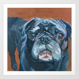Sir Duke the Pug Portrait Art Print