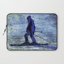 Sundown Skier Laptop Sleeve