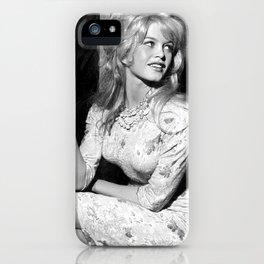 Brigitte Bardot smoking iPhone Case