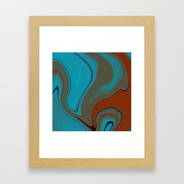 Sunset Sky Marble Framed Art Print