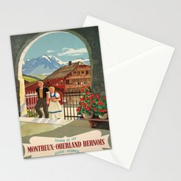 Advertisement chemin de fer montreux oberland Stationery Cards