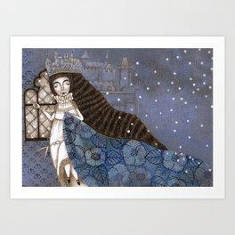 Schneewittchen-The Queen's Wish Art Print
