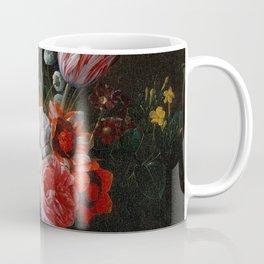 Nicolaes van Veerendael - A Bouquet of Flowers in a Crystal Vase (1662) Coffee Mug
