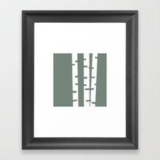 #113 Birches – Geometry Daily Framed Art Print