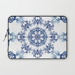 blue garden mandala Laptop Sleeve