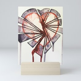 Shattered heart Mini Art Print
